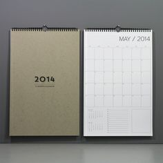 Image of 12 month wall calendar