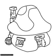 Smurfs Coloring Pages Print Out | Coloring Pages Smurf6 - kootation.com