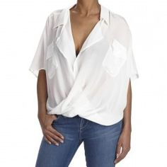 Crisp and clean Silk Front Fold Shirt from Funktional...