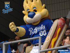 Sluggerrr the Lion is the mascot for The Kansas City Royals baseball team.