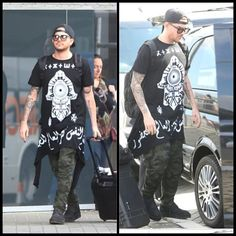 Adam Lambert wears amazing KTZ top in Perth...
