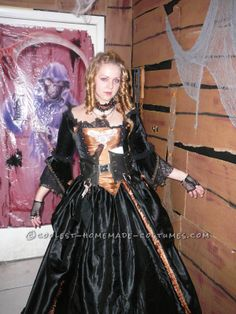 Georgian Style Fantasy Pirate Ball Gown. Pirate WenchHalloween Costumes ...  sc 1 st  Pinterest & First Annual MYTH Masquerade Ball ~ Photo: Daniel Bergeron | www ...