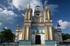 The Colorful Our lady of Guadalupe Church, Cupilco, Tabasco, Mexico
