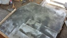 The new steps and landing pad