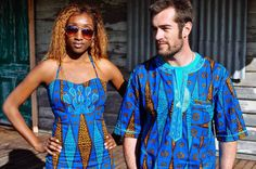 GerZam African Fashion: Zambian Chitenge as Matching Shirt and Dress
