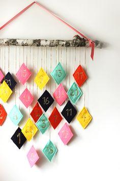 DIY Colorful Felt Advent Calendars for Christmas | Bespoke-Bride: Wedding Blog