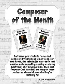 A Turn to Learn: Introduce Your Students to Classical Composers! Piano Lessons, Music Lessons, Music Classroom, Music Teachers, Classroom Ideas, Piano Teaching, Music Composers, Music Activities, Elementary Music