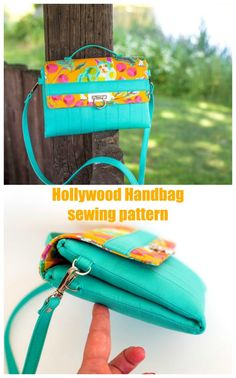 Sewing pattern for a double zipper purse. Two separate zipper compartments in this cross body purse sewing pattern, with a detachable strap and a flap that closes with a purse lock of your choice. An easy sew if you are confidednt with zippers. Crossbody bag sewing pattern. Zipper pouch sewing pattern. #SewABag #SewAHandbag #BagSewingPattern #HandbagSewingPattern #SewACrossbodyBag #CrossbodySewingPattern Clutch Bag Pattern, Leather Bag Pattern, Pouch Pattern, Handbag Patterns, Bag Patterns To Sew, Sewing Patterns, Zipper Bags, Zipper Pouch, Across Body Bag
