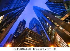 Photo about Looking up at Chicago s skyscrapers in financial district at dusk, IL, USA. Image of metropolis, famous, business - 28612053 Chicago Hotels, Architecture Photo, Beautiful Architecture, Lonely Planet, Kinds Of Camera, Free Art Prints, Ways Of Seeing, Print Artist, Stretched Canvas Prints