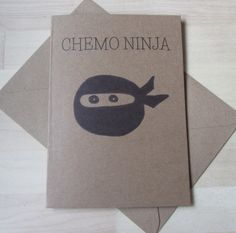 Illustrated Chemo Ninja Greeting Card Cancer by ColorfulClay