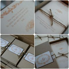 invitation in a box