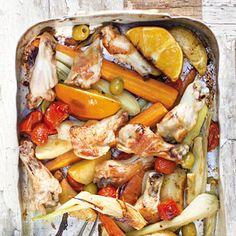 Kip en groenten uit de oven