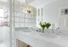 glass block window in shower stall - Google Search