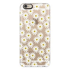 iPhone 6 Plus/6/5/5s/5c Case - Daisies ($40) ❤ liked on Polyvore featuring accessories, tech accessories, iphone case, iphone cover case and apple iphone cases