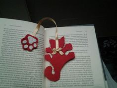 Bookmark cat shaped handmade in pannolenci
