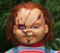 Bride of Chucky Chucky lifesize replica doll replica movie prop Chucky And Tiffany Costume, Chucky Doll Costume, Chucky Costume For Kids, Couple Halloween Costumes, Deer Costume, Cool Halloween Makeup, Halloween Inspo, Scary Makeup, Halloween 2014