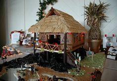 Maori Gingerbread Hale from the Kona Village Resort on the Big Island of Hawaii
