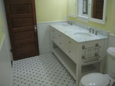 best bathroom sinks | Bathroom remodel - double sink vanity with marble top | Yelp