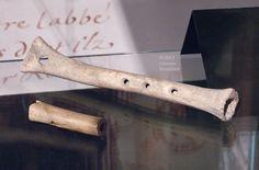 12th-c. bone flute and late 14th/early 15th-c. bone whistle, MAHSD. Saint Denis 130. Genevra Kornbluth