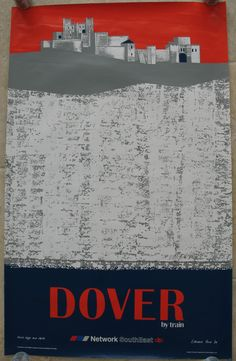 Original Railway Poster Network SouthEast Dover by Train, by Edward Pond. Available on originalrailwayposters.co.uk