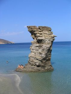 "Andros Greece - ""Old Lady"" rock formation in Tis Grias To Pidima Andros Greece, Santorini Greece, Places Around The World, Around The Worlds, Places To Travel, Places To Go, Vacation Trips, Travel Trip, Dream Vacations"
