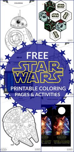 21 Star Wars The Force Awakens Printable Activities and Coloring Pages:: The movie comes out December 18th!