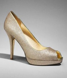 glitter peep-toe platform pumps from express, $82.60
