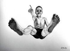Arte realista em pontilhismo pelo artista brasileiro Will Barcellos;