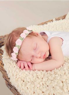 5287fa378f So adorable and light for summer! Pink Carnation Headband for Baby Girls