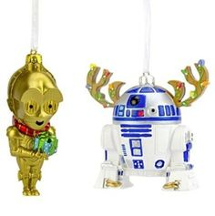 Two Piece 3D Star Wars R2D2 & C3PO Ornament Set