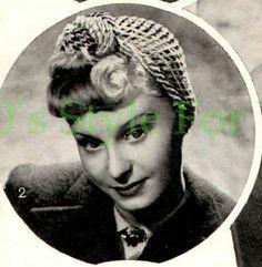 The Vintage Pattern Files: 1940's Crochet - Bestway 445 Womens Turban