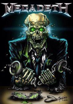 vic by icarosteel Megadeth Arte Heavy Metal, Heavy Metal Music, Hard Rock, Dave Mustaine, Metallica, Heavy Metal Rock, Heavy Metal Bands, Thrash Metal, Rock Posters