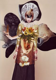 """Vanitas : """"An artistic collaboration with stylist Kathi Kauder and photographer Sabrina Theissen. For these collages Ashkan Honarvar used Vanitas symbols in a search for the equilibrium between life an… Vanitas, Love Collage, Mixed Media Collage, Beautiful Collage, Simply Beautiful, Fashion Collage, Fashion Art, Travis Bedel, Paris Tokyo"""