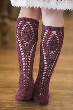 Bon Vivant #Crochet Stockings by Brenda K.B. Anderson in It Girl Crochet