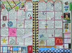 could make and have the kids write something they learned every day--Art Journaling