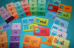 Simple words using paint chip samples