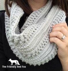 Crochet bufanda / bufanda Infinity / por TheFriendlyRedFox en Etsy