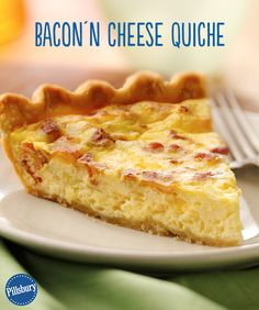 This crowd-pleasing Bacon'n Cheese Quiche only looks fancy! It's actually super easy and only takes 15 minutes to prep. (It'll be our little secret!)