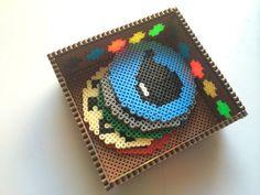 3D Magic The Gathering Perler Bead Dish Coaster Holder by SDKD