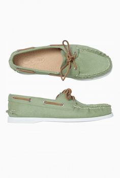 Womens Sperry Twill Deck Shoe