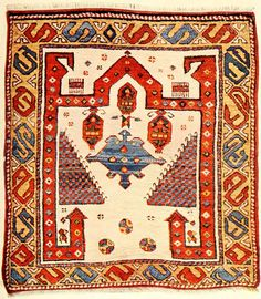 Bergama oriental prayer carpet.