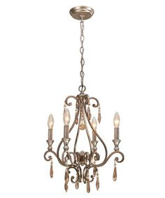The days of elegant tea parties and book readings in the solarium may be no more, but it's still possible to capture that old-world charm with this timeless chandelier draped in hand-cut crystals.