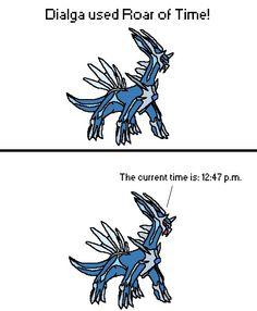 Behold Dialga's time abilities.