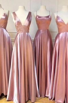 Cheap Long Pink Bridesmaid Dresses For Wedding Party A Line Plus Size Women Dress Gowns Pink Bridesmaid Dresses Long, Pretty Prom Dresses, Best Wedding Dresses, Beautiful Dresses, Homecoming Dresses, Bridesmaids, Maid Of Honor Dress Long, Maid Of Honour Dresses, Damas Rose