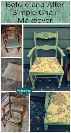 ART IS BEAUTY: Simple Chair Makeover Themed Furniture Makeover