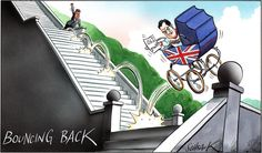 28 July 2013 - Osborne is 'bouncing back' due to the Royal birth and the GDP growth.