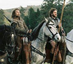 Mads MikkeLsen & Hugh Dancy as Tristan and Galahad in King Arthur