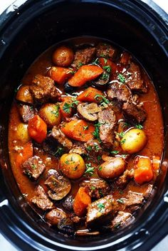 Slow Cooker Beef Bourguignon (for instant Pot do 25 minutes high pressure, 20 min natural release)