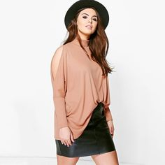 9224bffedaa Cold Shoulder Turtleneck Blouse. Quality T ShirtsCheap ...