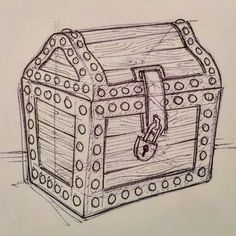 treasure chest lock coloring pages - photo#18
